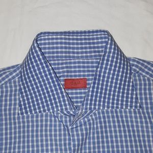 Isaia dress shirt size 16.5/42 made in Italy